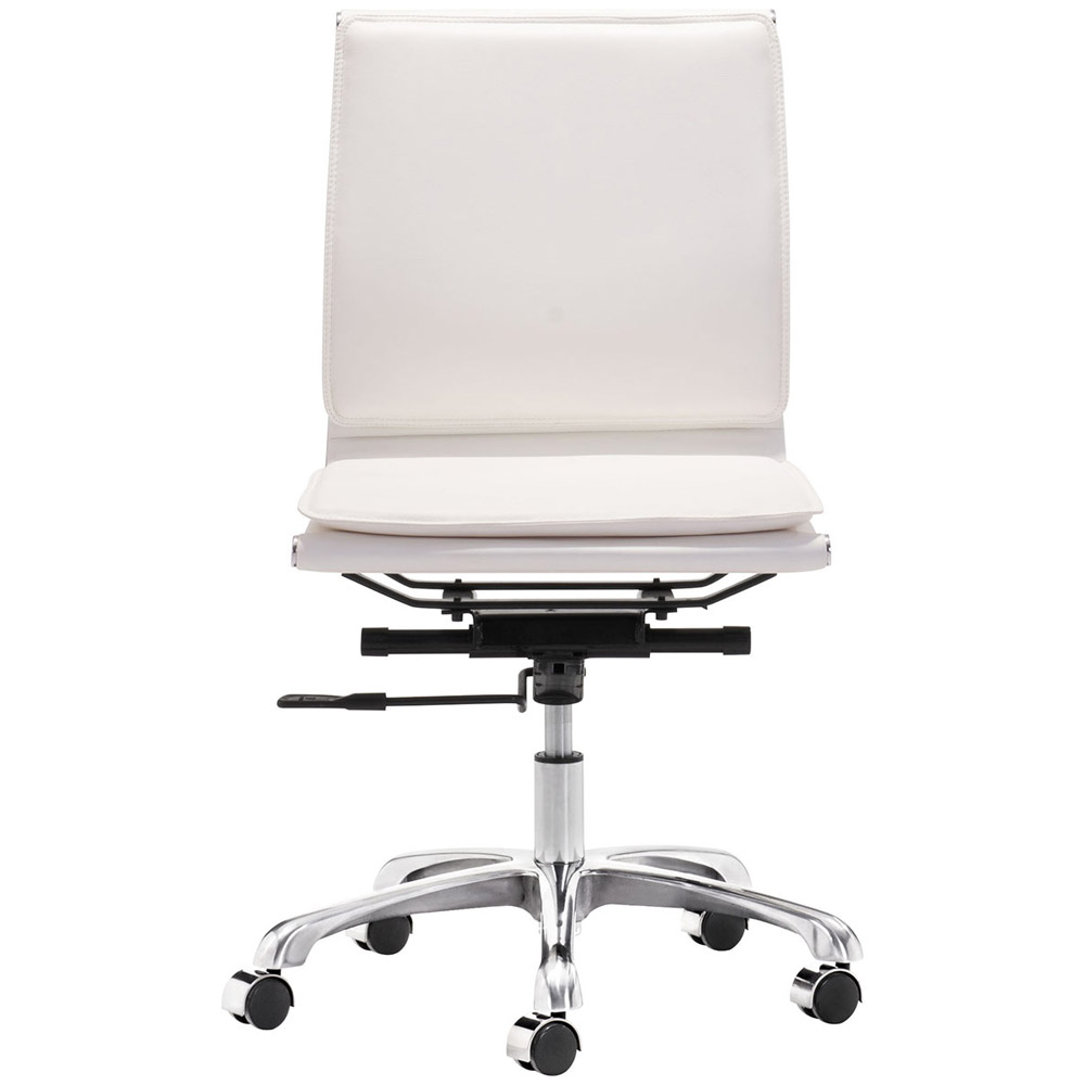 Gustavo armless office chair zuri furniture for Armless office chairs