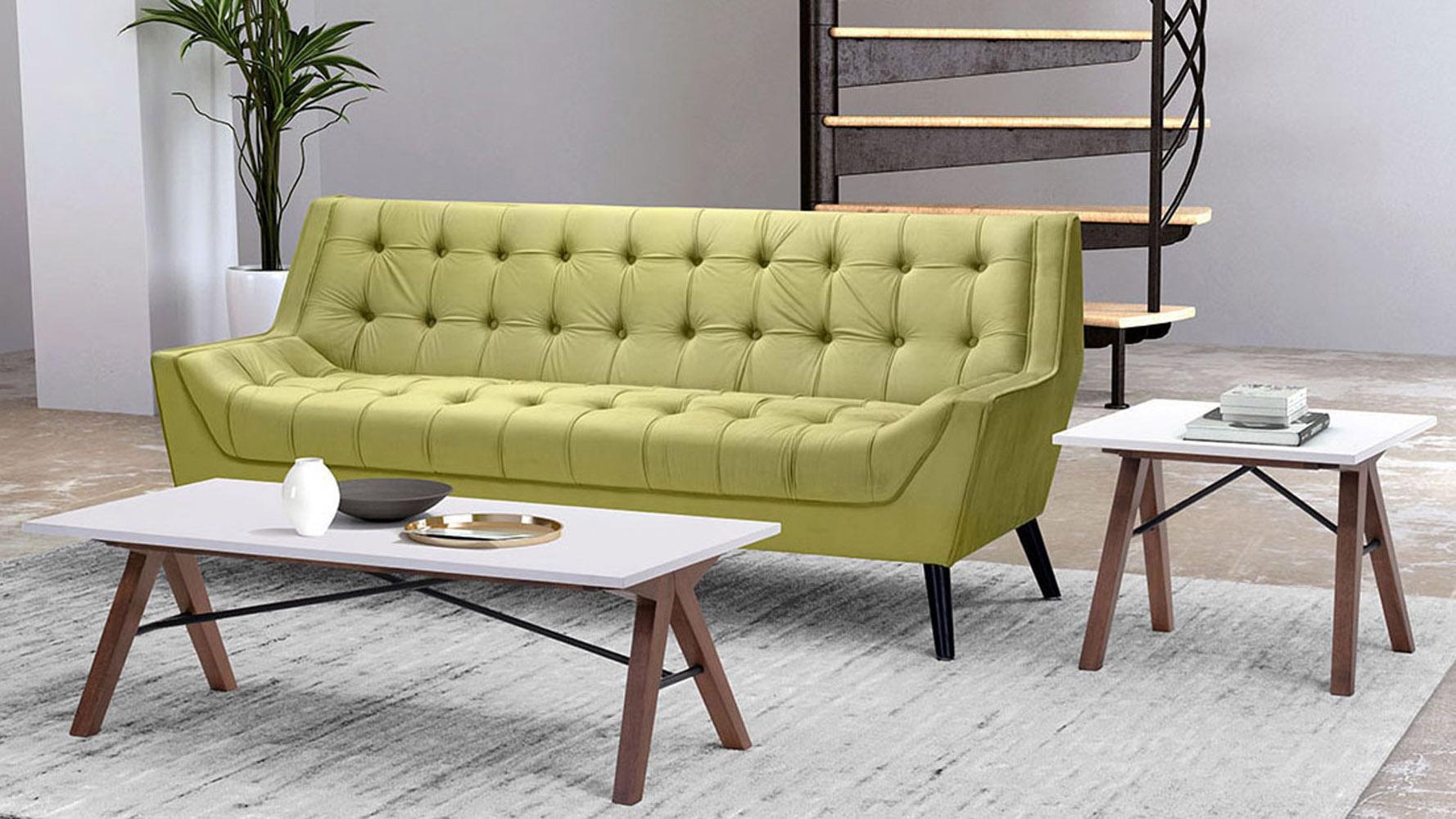 Modern Espen Side Table Walnut Amp White Zuri Furniture