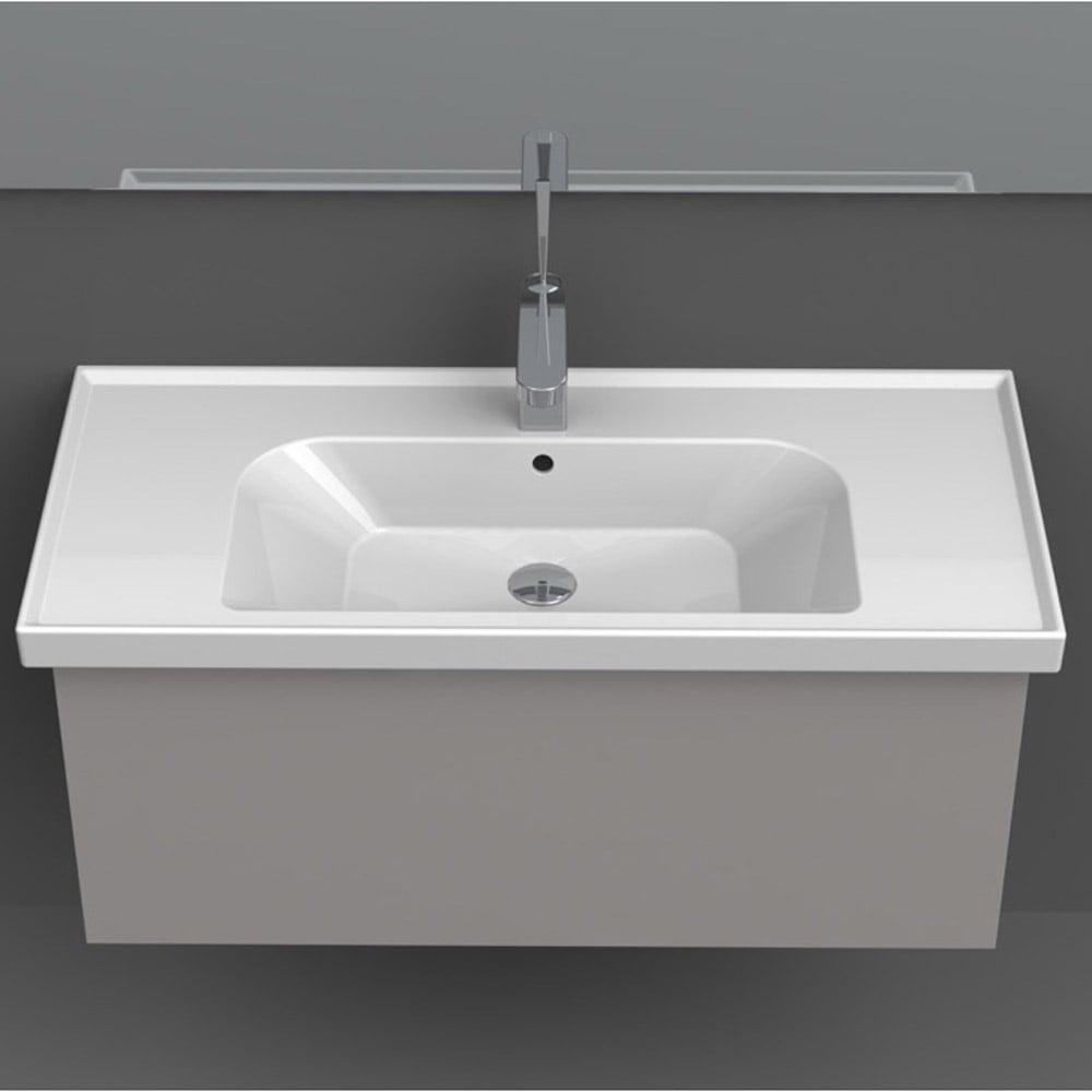 Frame Rectangle Ceramic 32 Quot Sink Zuri Furniture