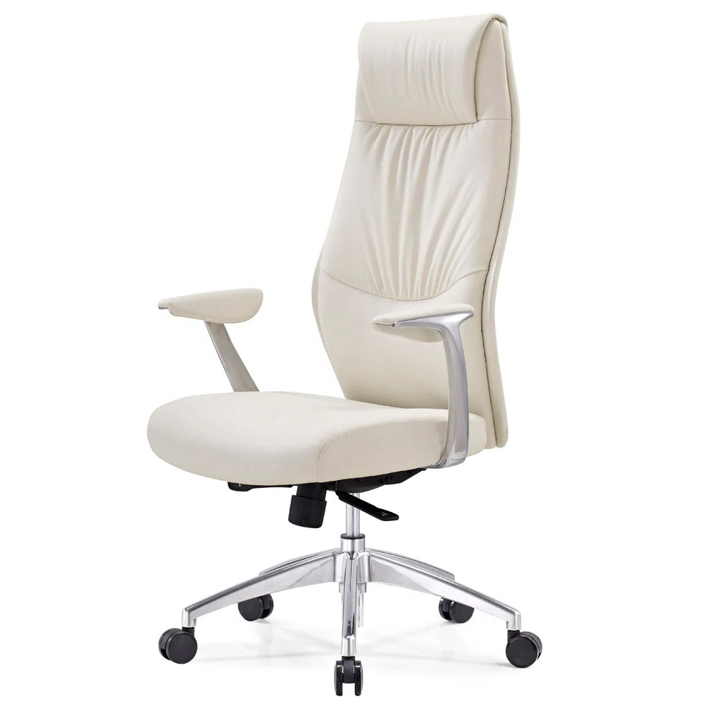 Franklin Leather Adjustable Executive Chair With Aluminum Base Zuri Furniture