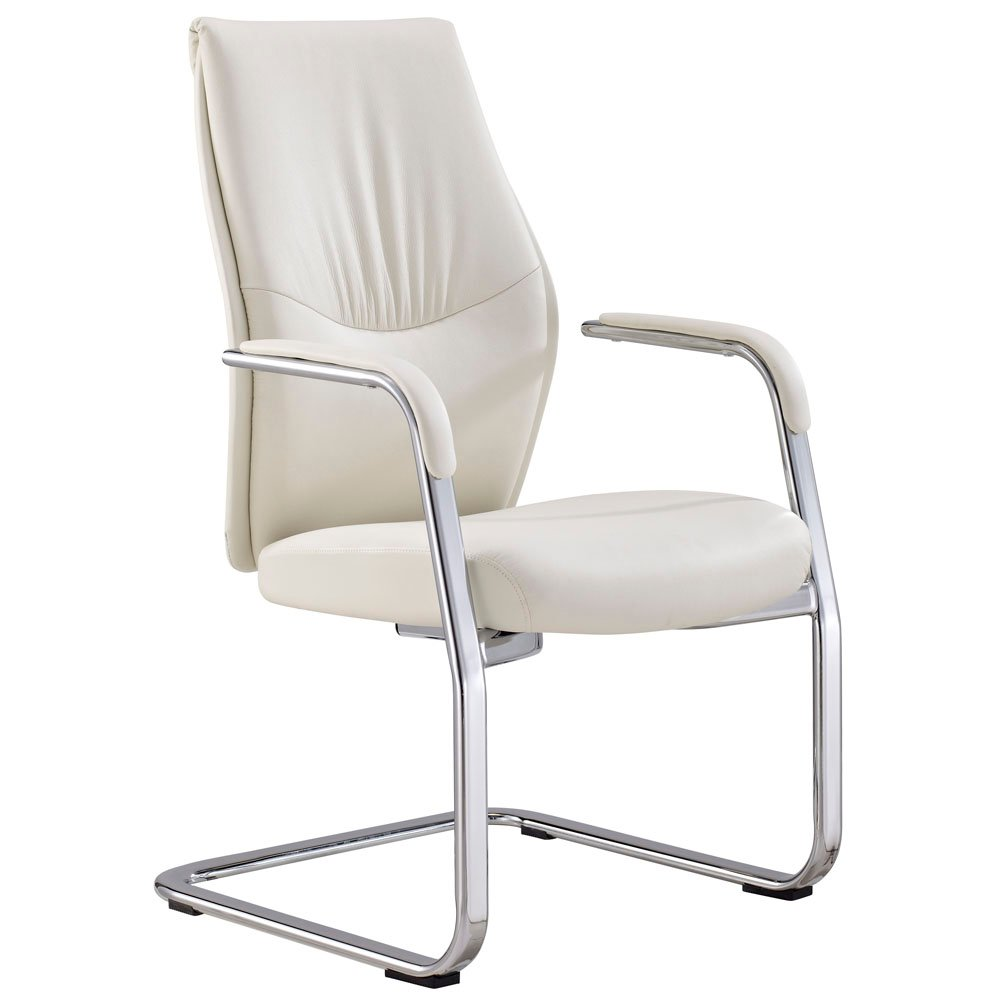 Franklin Leather And Chrome Side Chair With Aluminum Base Zuri Furniture