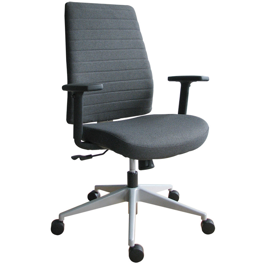 Modern Frasso Fabric Swivel Chair With Adjustable Arms