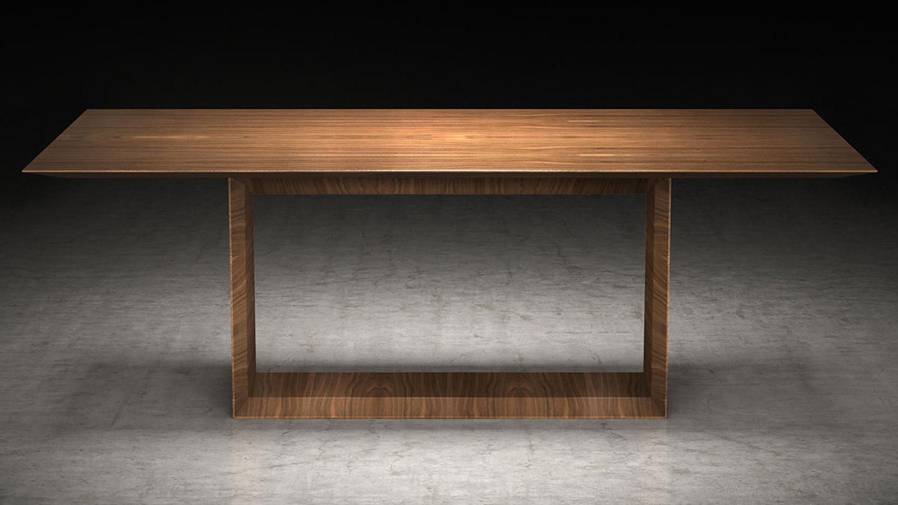 Galice 87 inch rectangular wood and glass dining table for Contemporary rectangular dining table