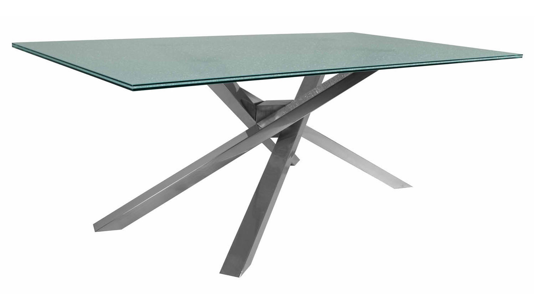 Modern Garrison Rectangle Dining Table Base Stainless Steel Base | Zuri  Furniture