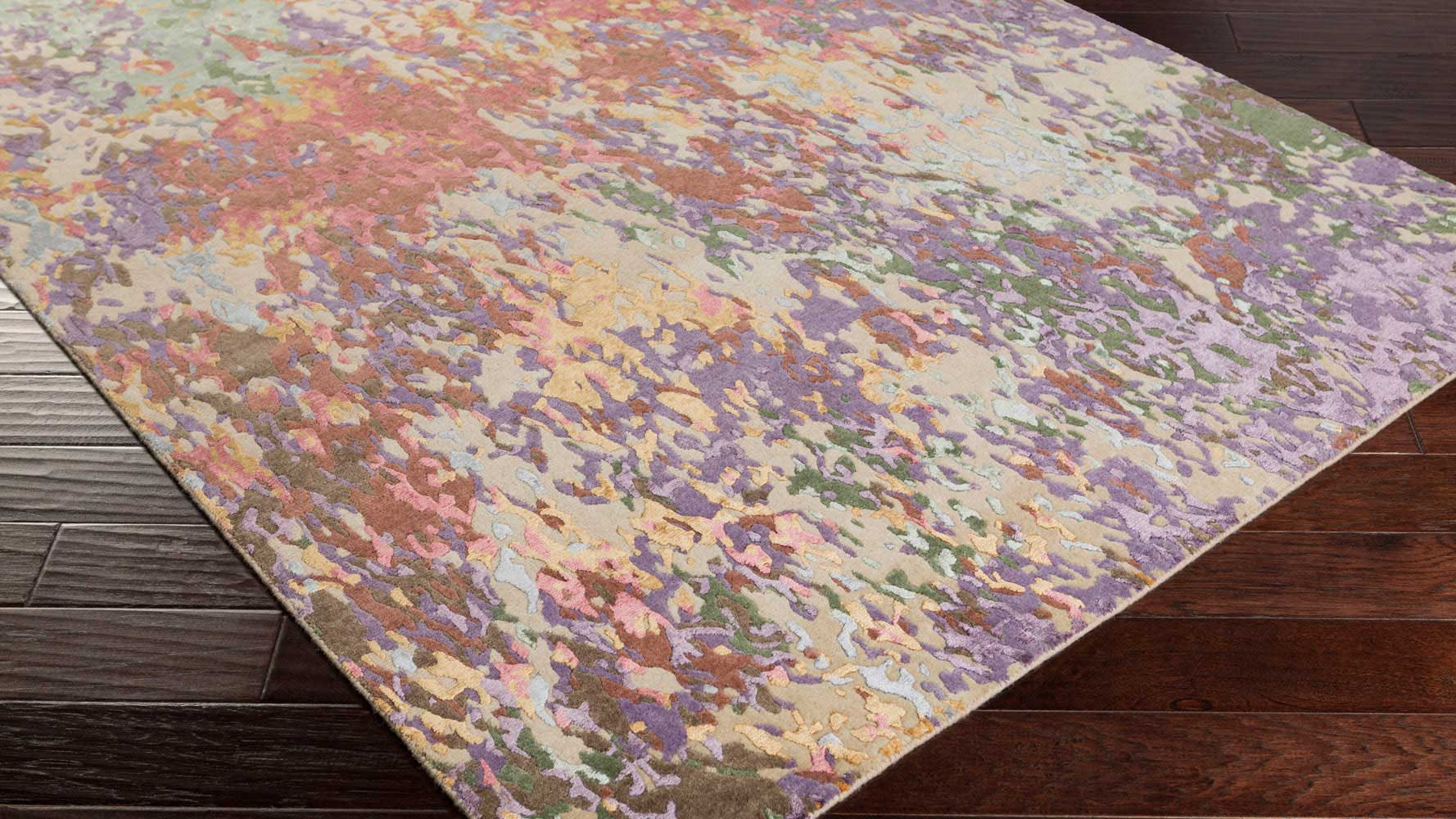 Hand Knotted Radar Eggplant Rug Zuri Furniture