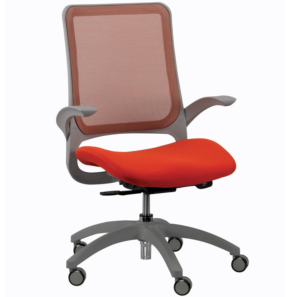 Hawk Mesh Back Swivel Chair With Fabric Seat