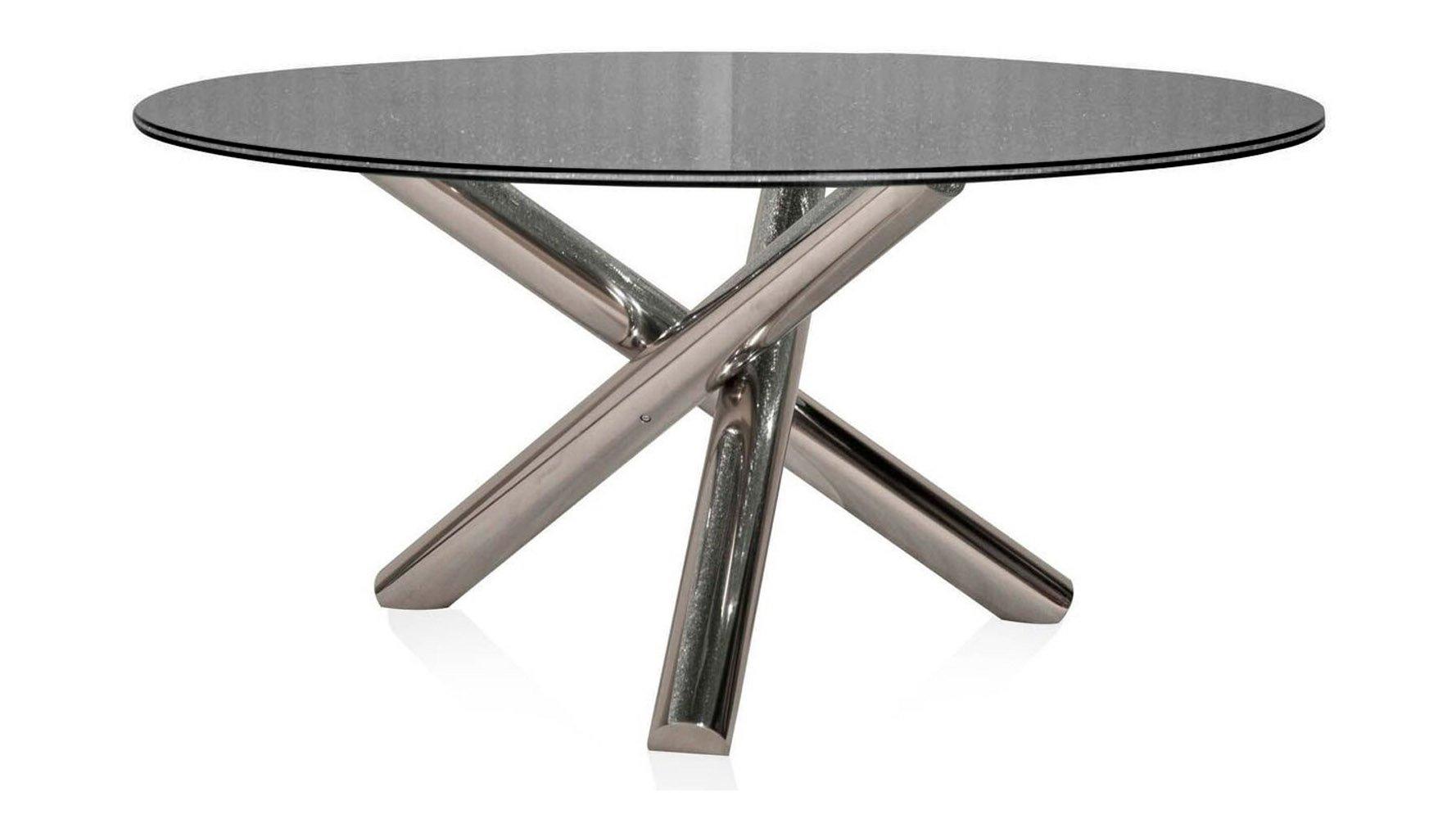 Jezek 60 Inch Crackled Glass Dining Table Zuri Furniture