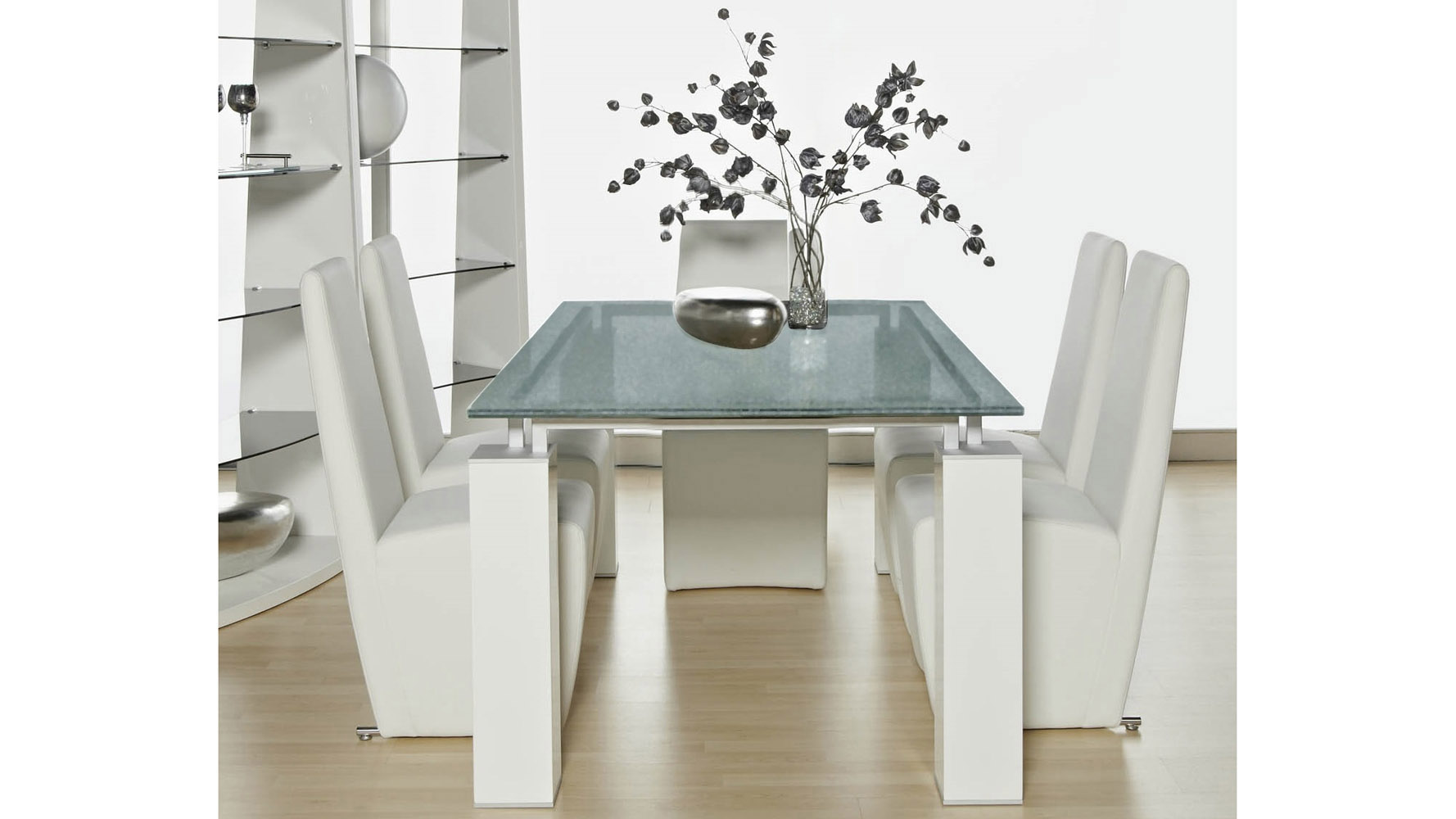 Joie 75 Inch Dining Table White