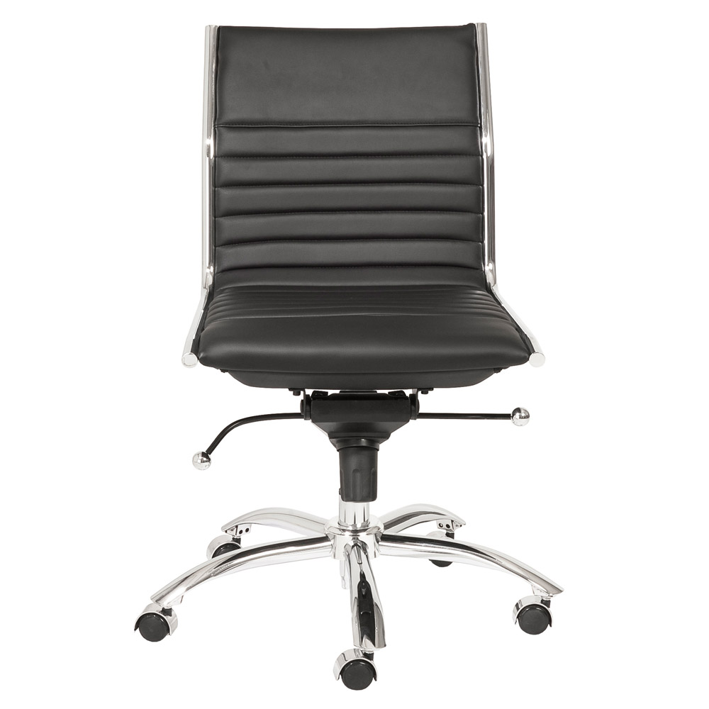 Kinsey Low Back Armless Leatherette Adjule Height Office Chair
