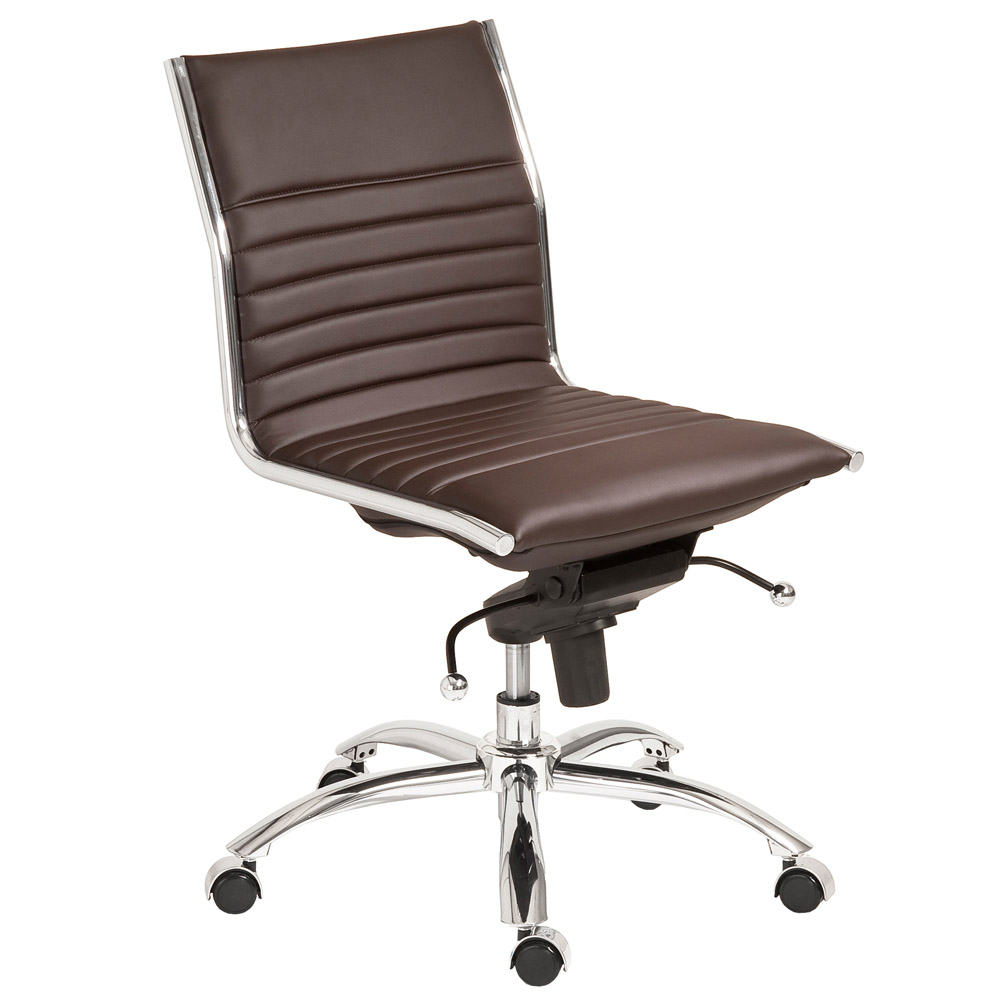Armless Office Chairs kinsey low back armless leatherette adjustable height office chair