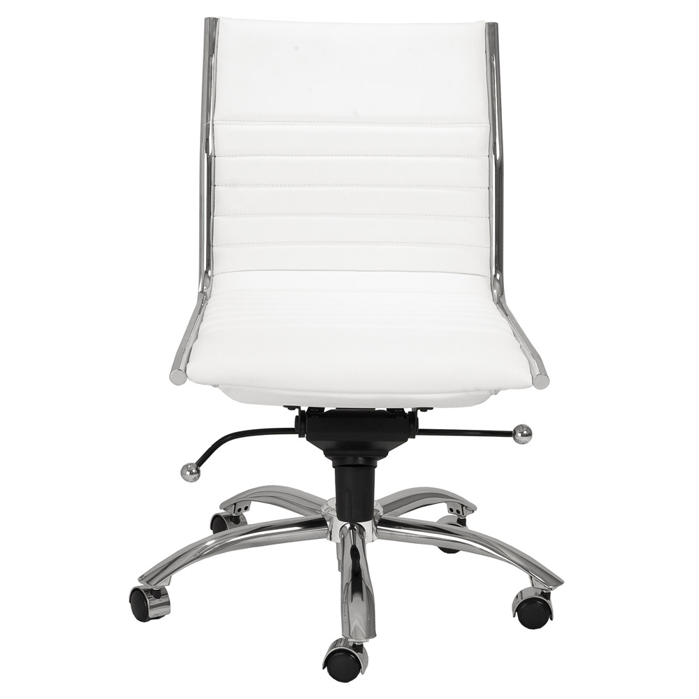 Kinsey Low Back Armless Leatherette Adjustable Height Office Chair