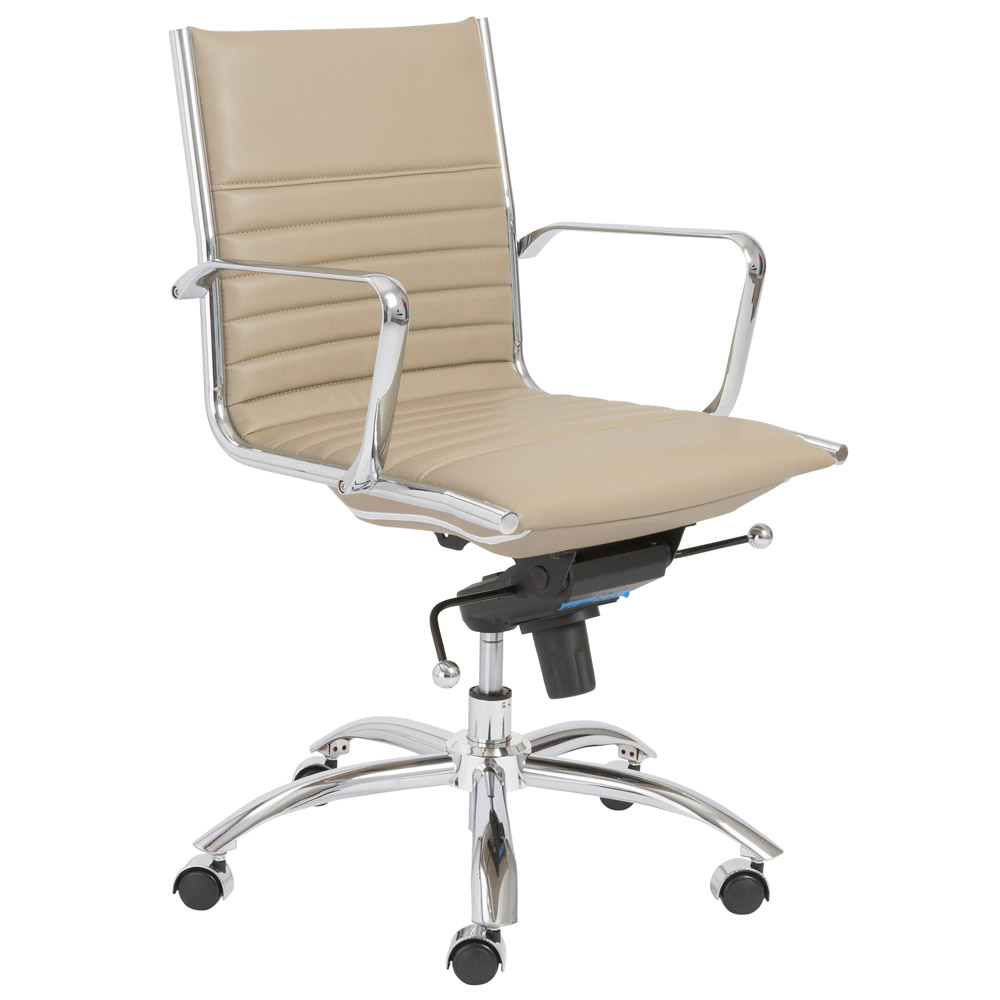 Kinsey Low Back Leatherette Adjustable Office Chair With Chrome Base Zuri F