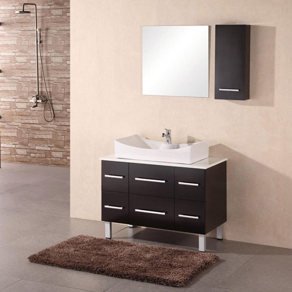 Lena 36 single sink vanity set zuri furniture Bathroom vanities single sink 36 inches