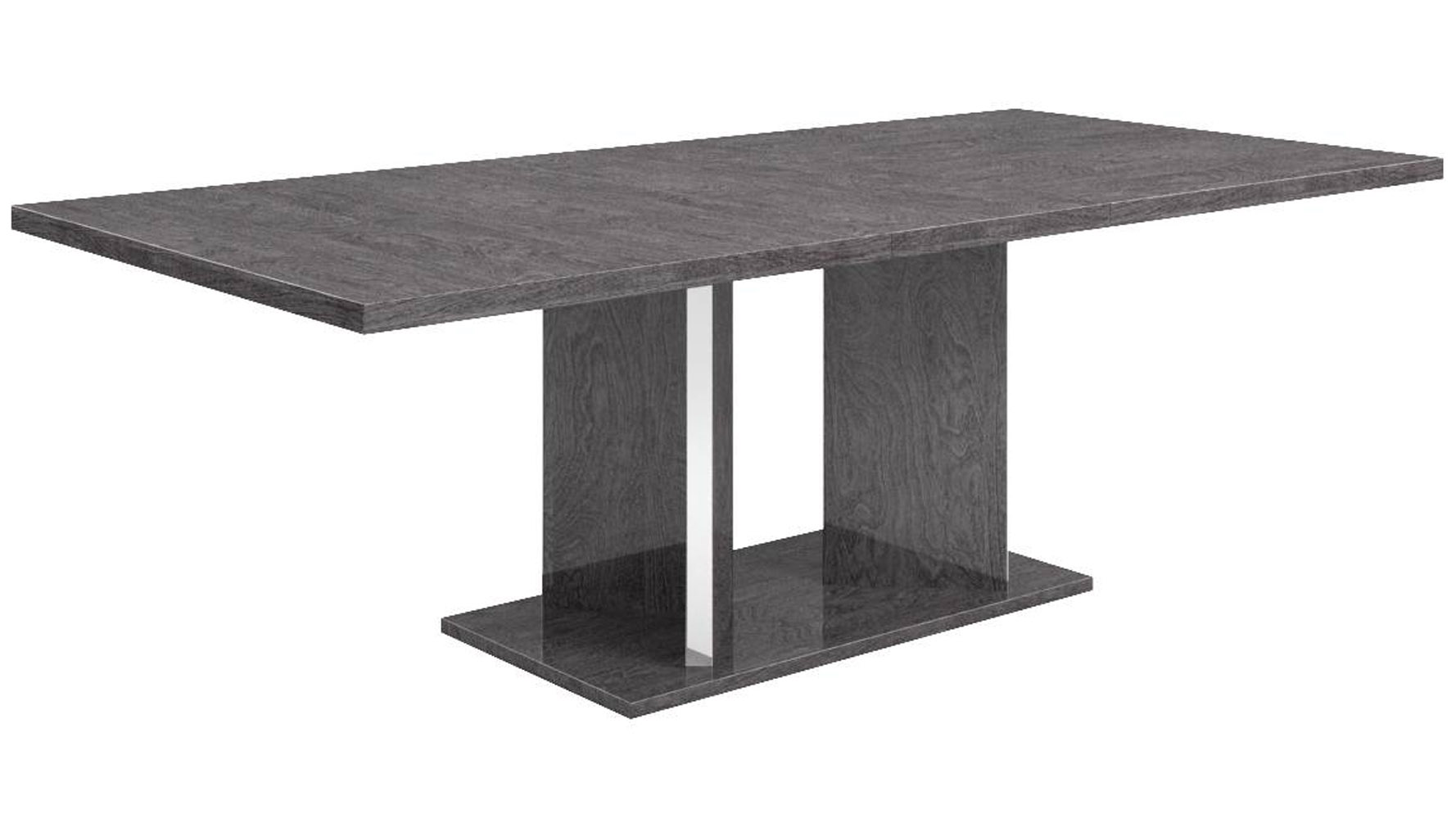 Modern marquis extension dining table grey birch high for Modern high dining table