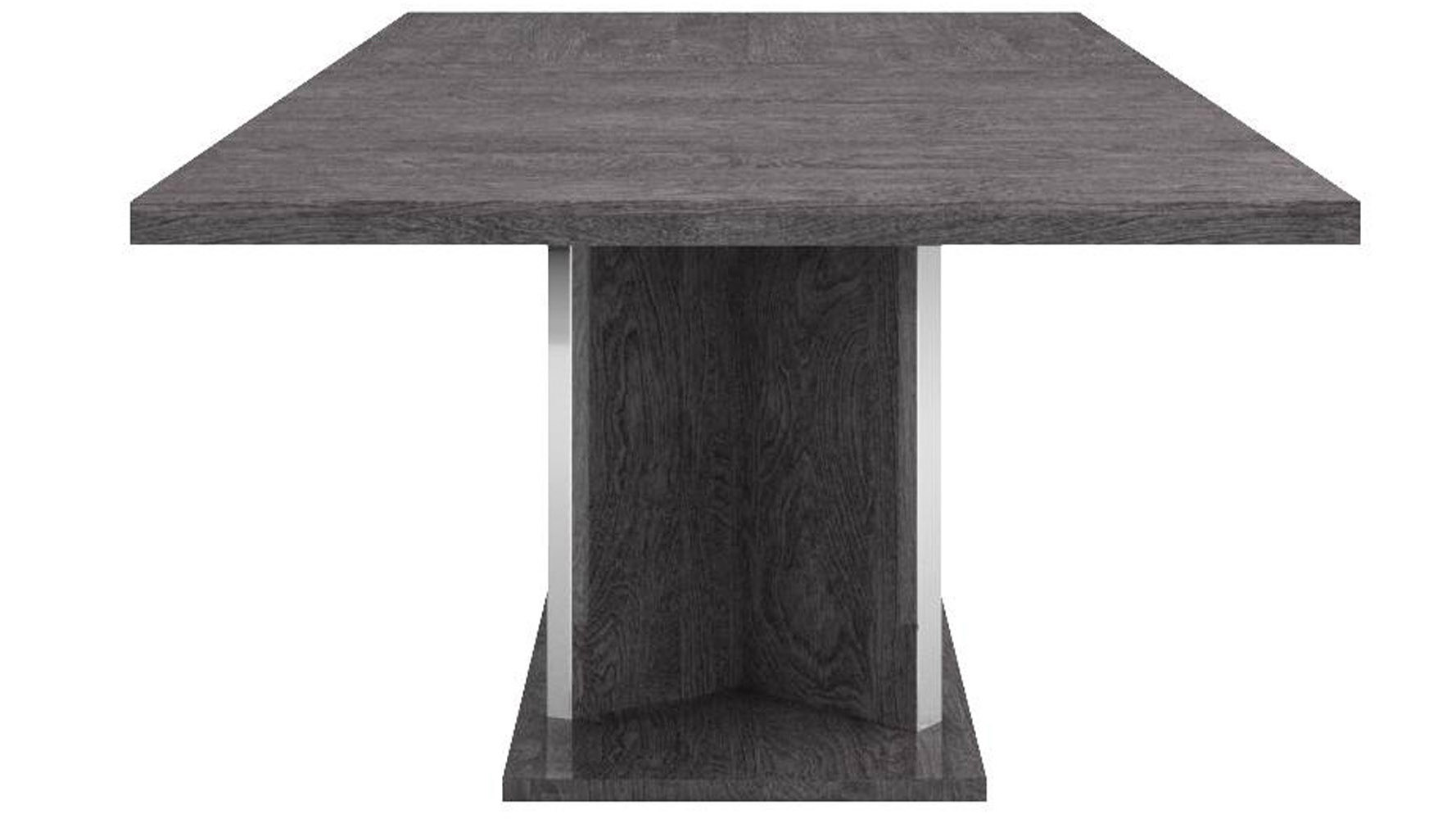 Modern Marquis Extension Dining Table Grey Birch High