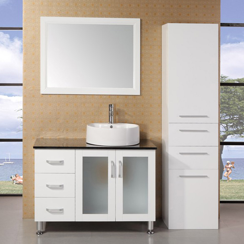 Maya 39 Quot Single Sink Vanity Set Zuri Furniture