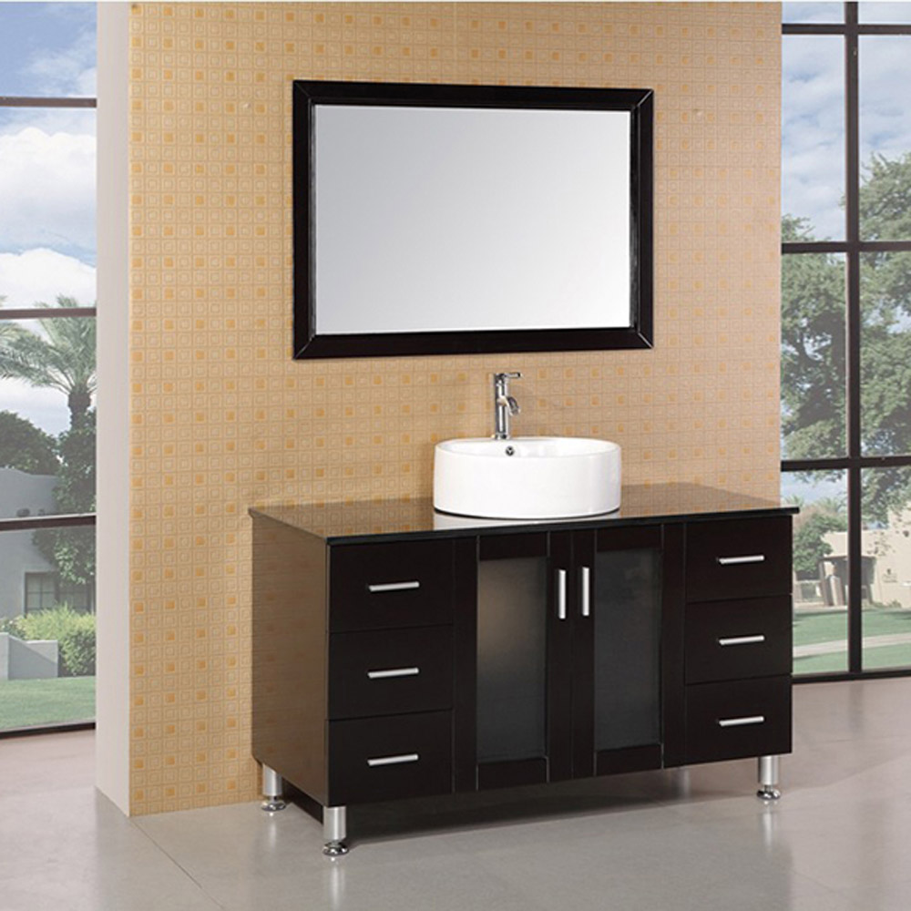 Maya 48 Quot Single Sink Vanity Set Zuri Furniture