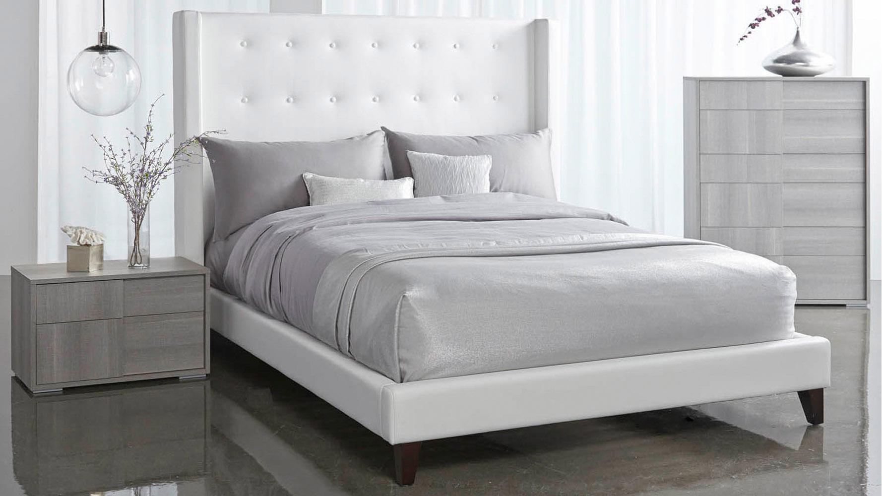 Modena Bed White Zuri Furniture