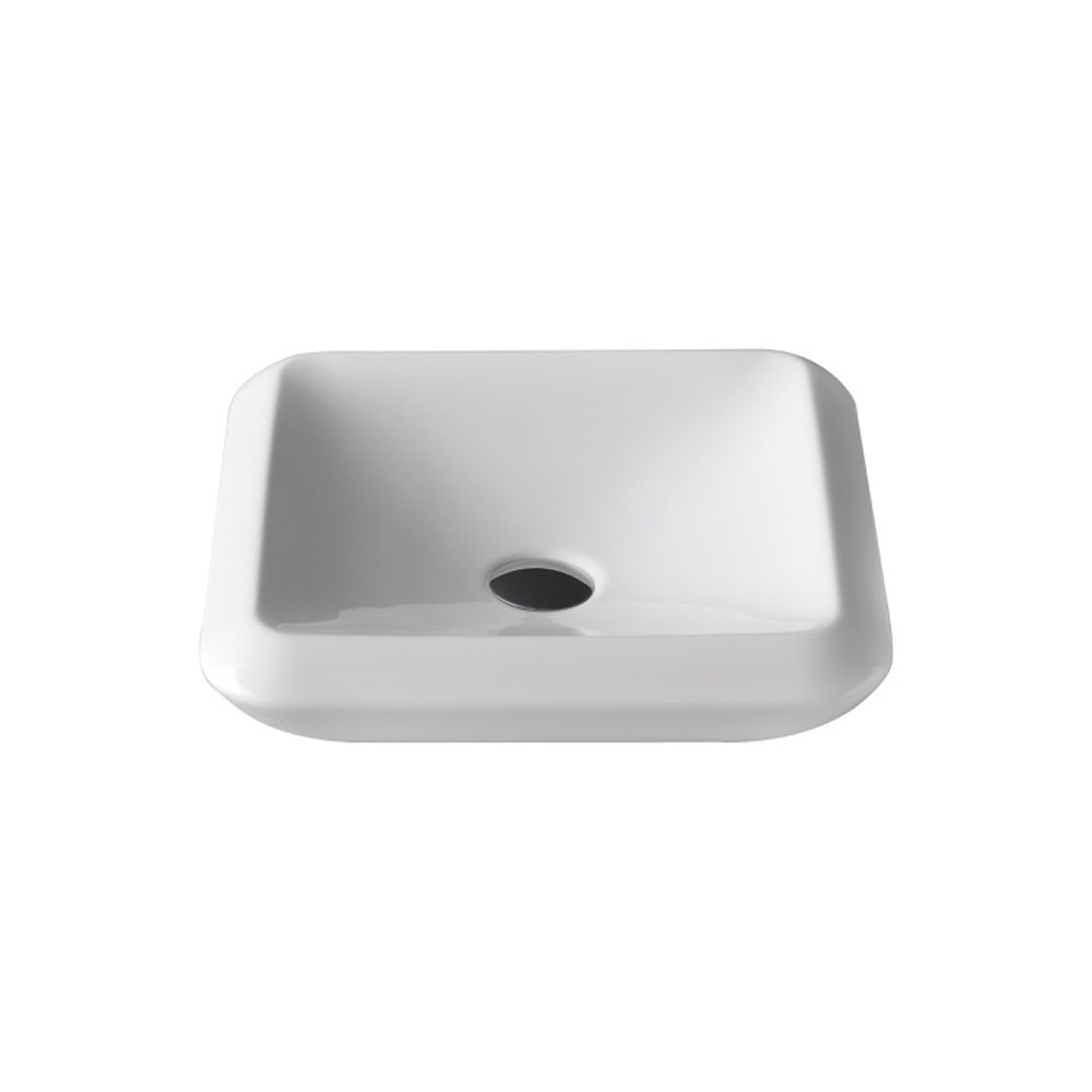 More Square Ceramic 16 Quot Vessel Sink Zuri Furniture
