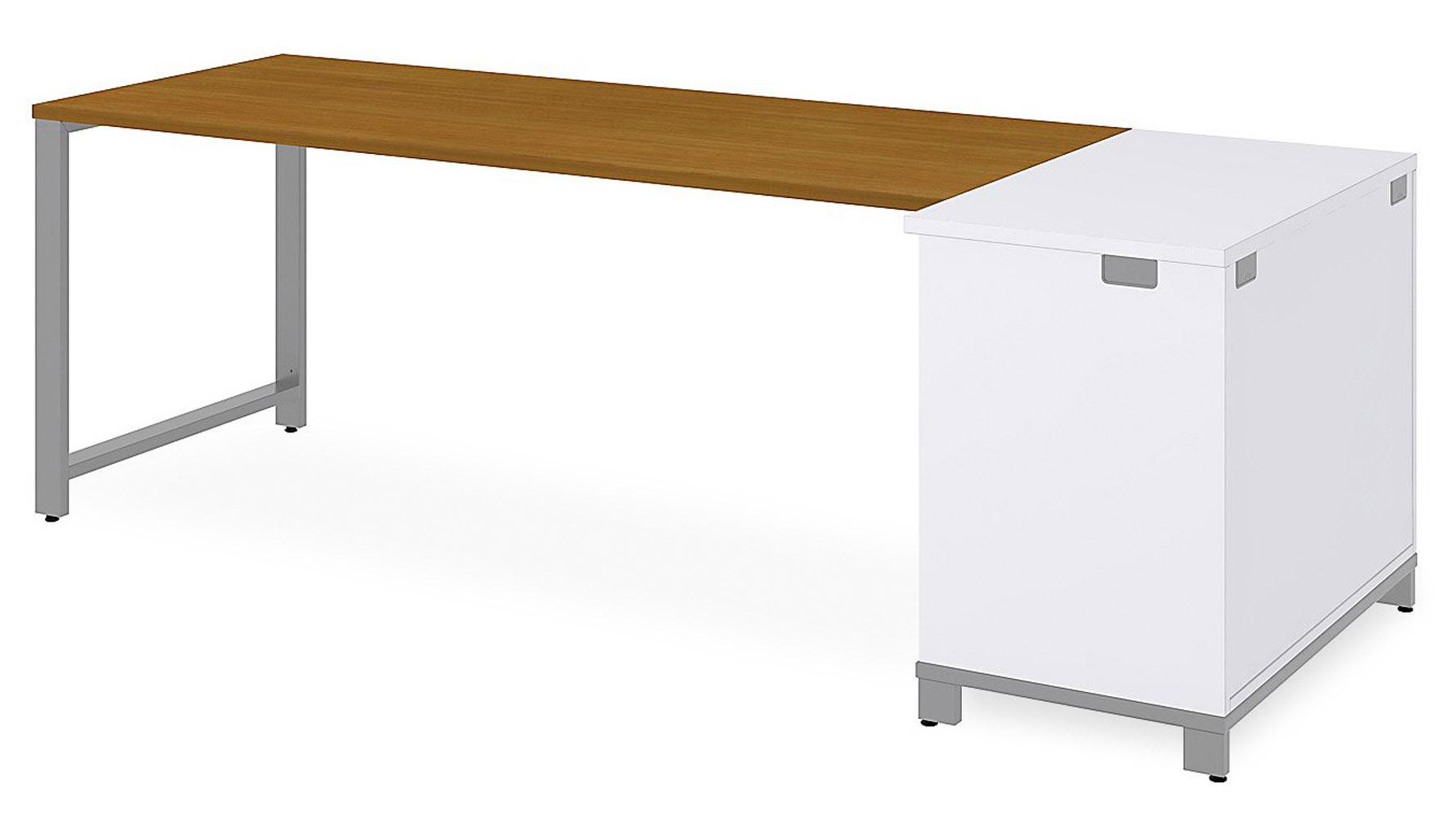 Bbf Momentum Desk With Open Storage 72 Quot Zuri Furniture