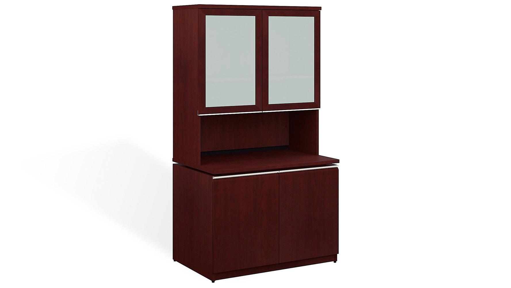 Bbf Milano Bookcase Hutch With Glass Doors Zuri Furniture