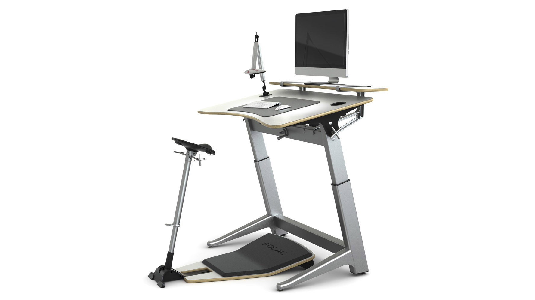 Focal upright locus desk 4 bundle pro desk seat for Locus seat and desk