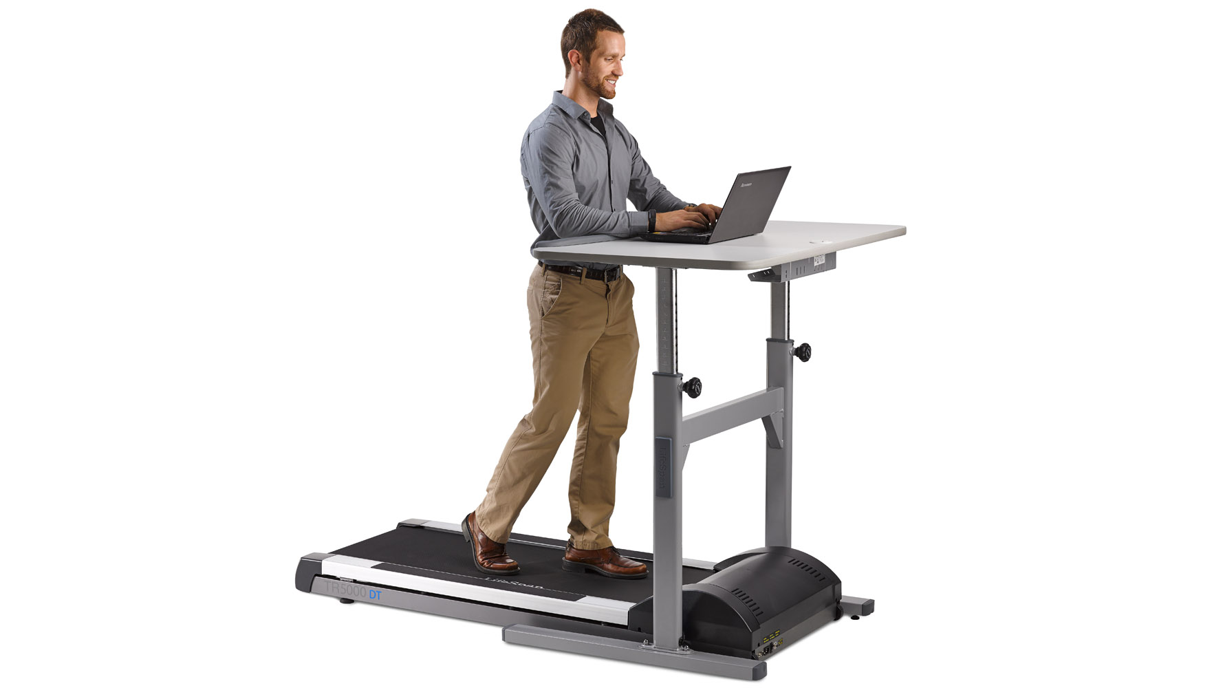 Modern fice LifeSpan High Use Treadmill with Manual Desk