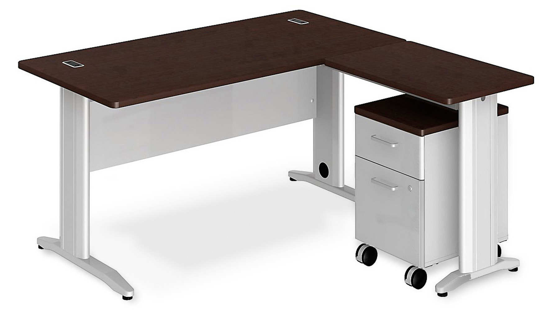 Sector l desk mobile pedestal zuri furniture - Mobile office desk ...