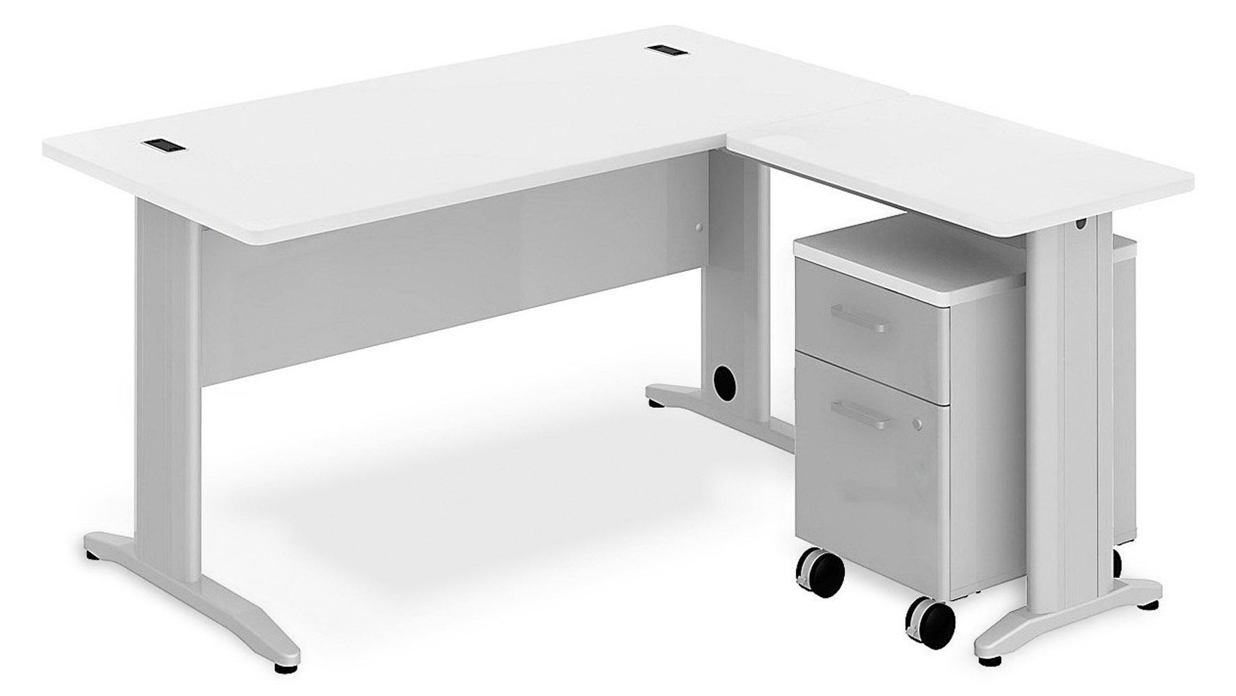 White L Desk Part - 45: Sector L-Desk + Mobile Pedestal