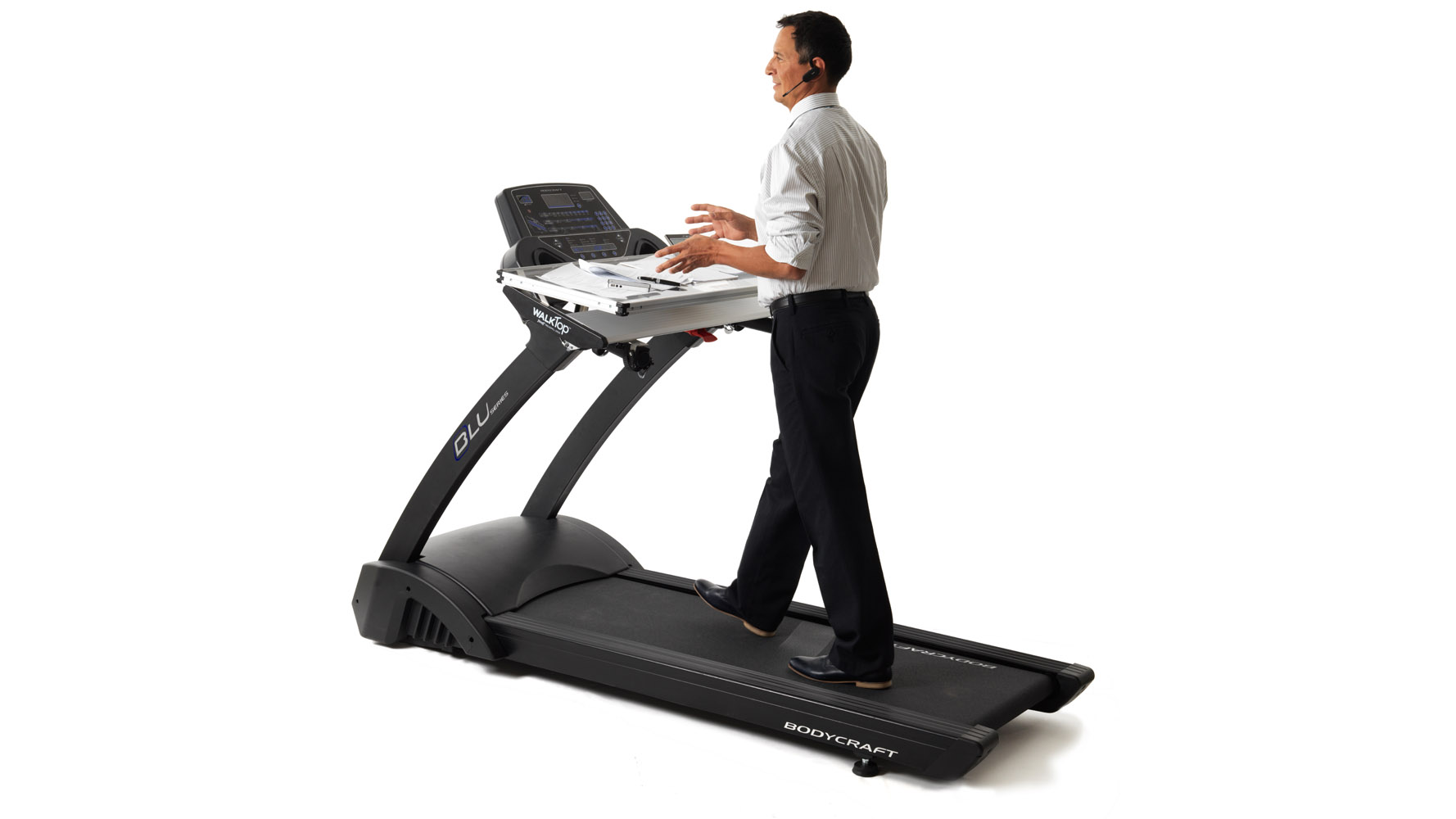 Modern Office WalkTop Clear Treadmill Desk With Quick Release | Zuri  Furniture