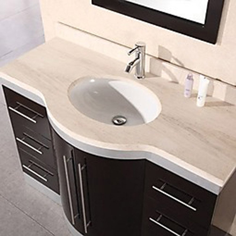 Olivia 48 single sink vanity set zuri furniture Bathroom sink and vanity sets