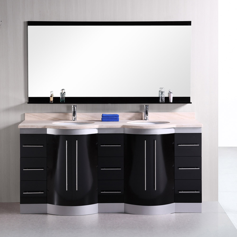 Olivia 72 double sink vanity set zuri furniture for Bathroom 72 double vanity