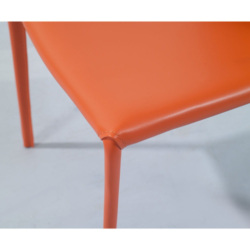 Modern Orange Dining Chair Exciting Design Of Crate And