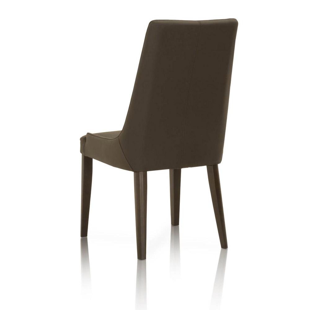 Padron Leather Dining Chair Set Of 2 Dark Umber Zuri