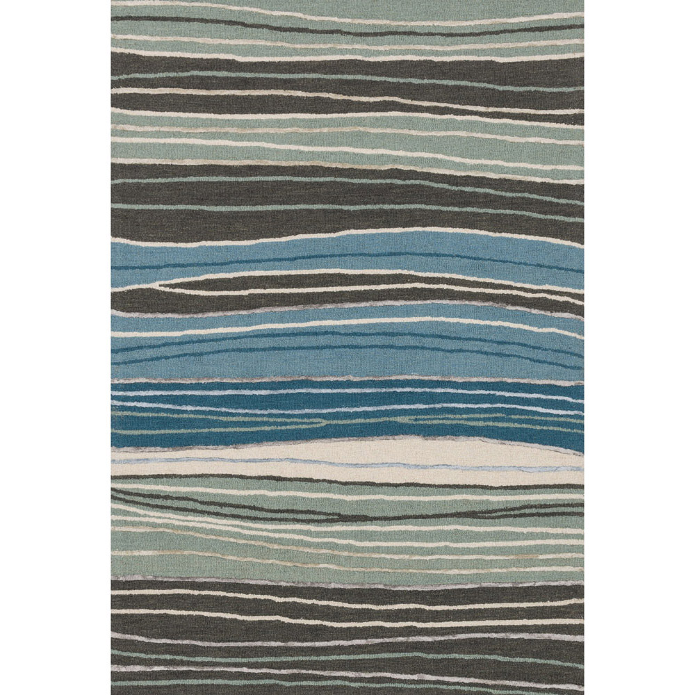 Palani Grey and Blue Rug