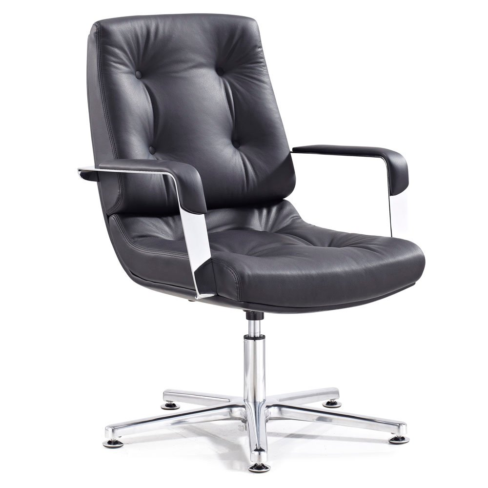 Fine Perot Leather Guest Chair Machost Co Dining Chair Design Ideas Machostcouk