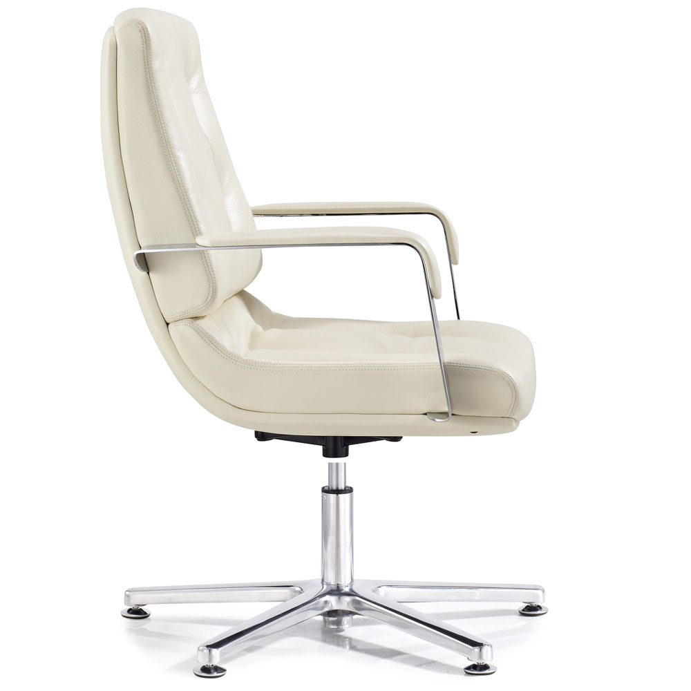 perot leather and chrome adjustable office chair with aluminum