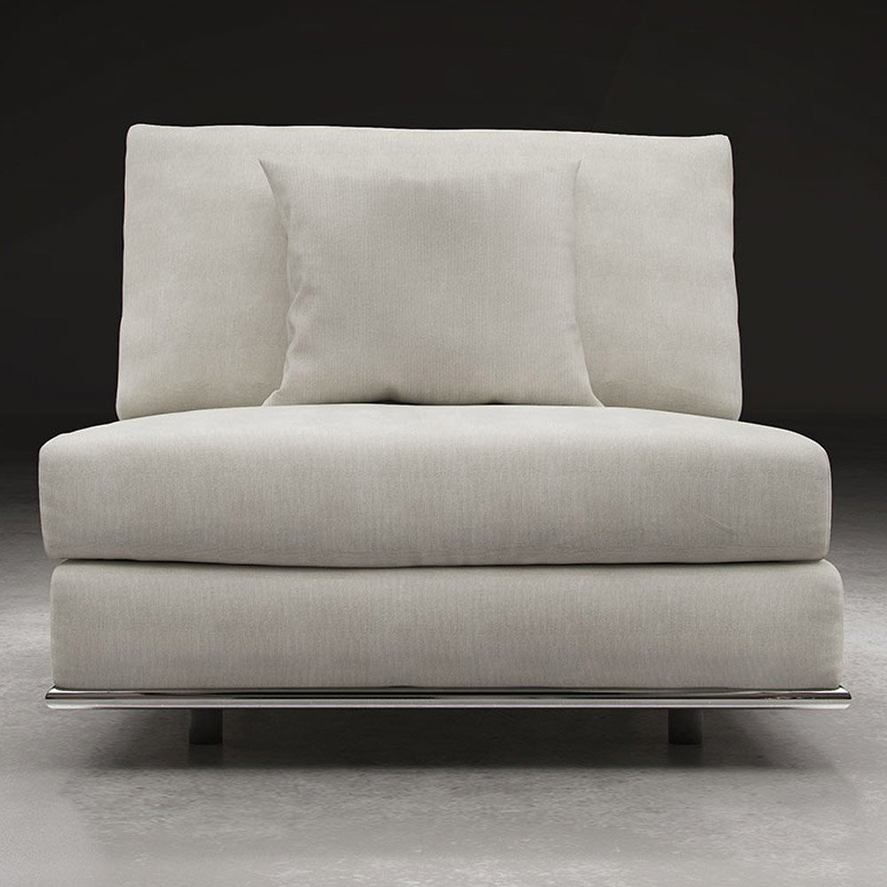 Modern Persis Armless Sofa Chair Moonbeam Zuri Furniture