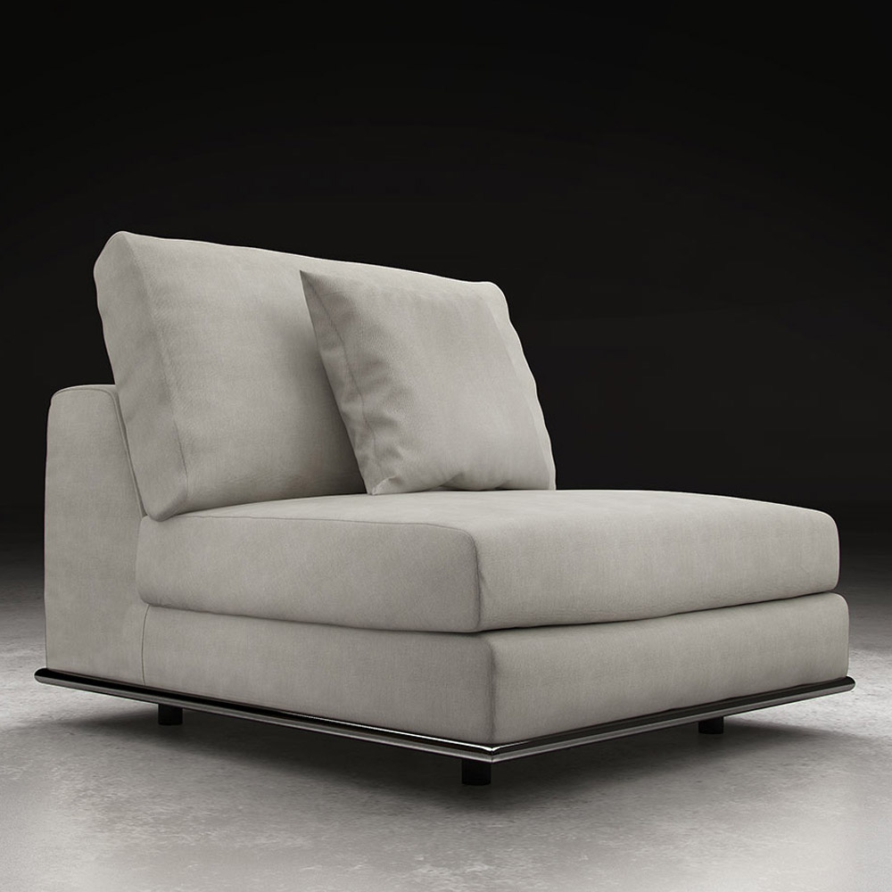 Modern Persis Armless Sofa Chair - Moonbeam | Zuri Furniture