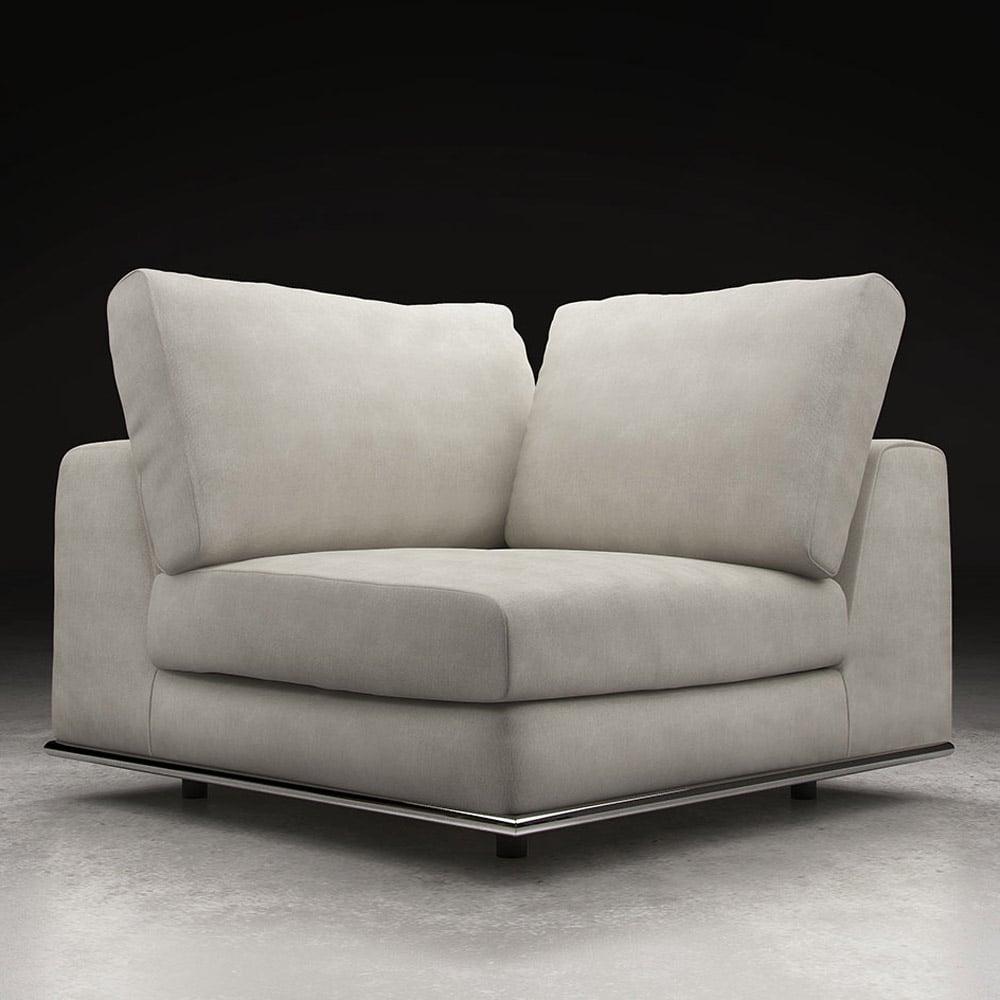 Modern Sofa Chair: Modern Persis Corner Sofa Chair - Moonbeam