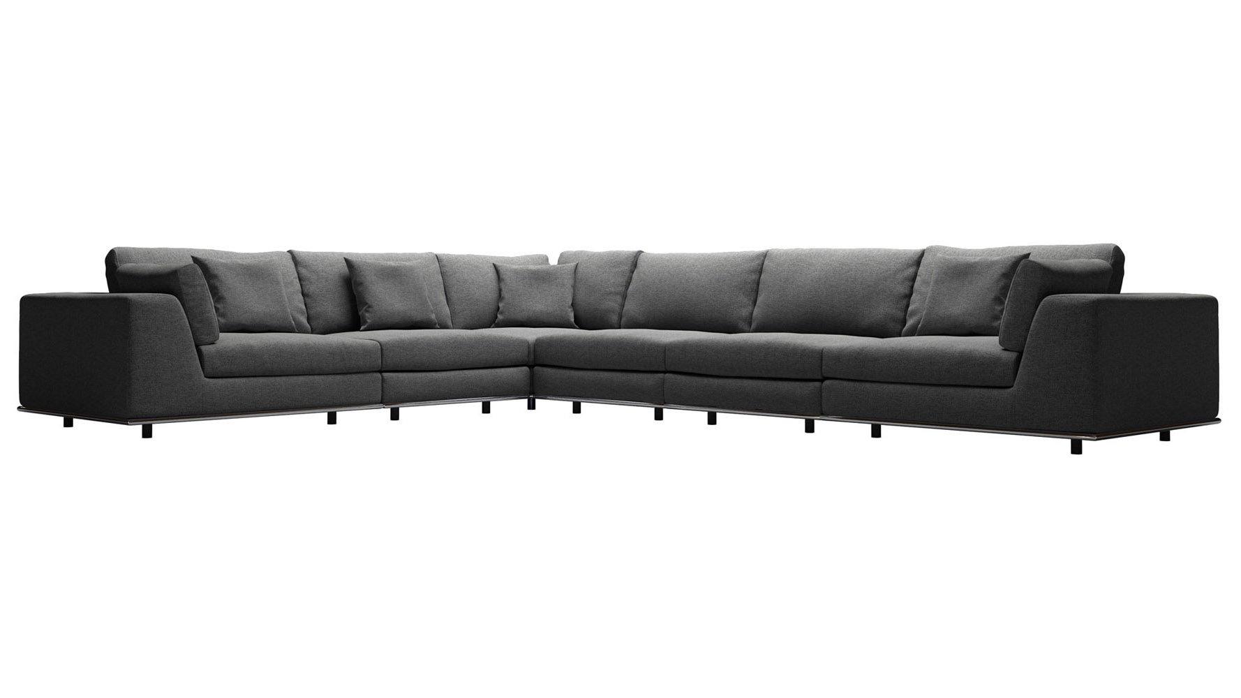 Modern Persis Extra Seating L Sectional Sofa | Zuri Furniture