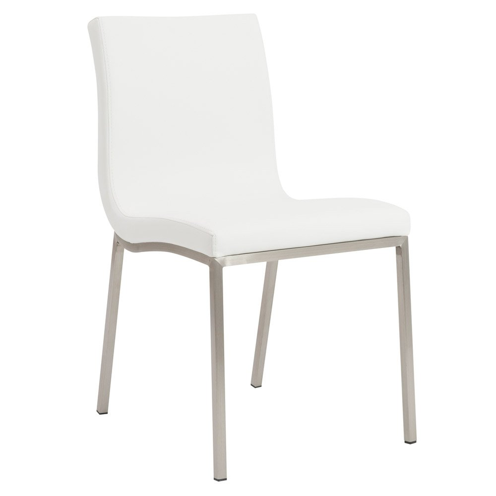 Rachel Dining Chair With Brushed Stainless Steel Legs