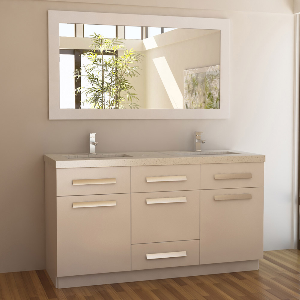Rissa 60  Double Sink Vanity Set Zuri Furniture