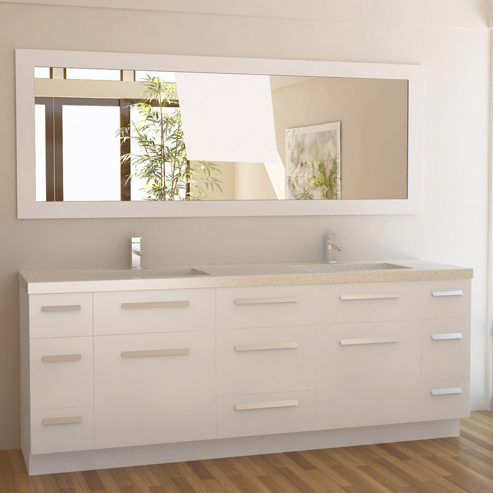 Rissa 84 Double Sink Vanity Set Zuri Furniture