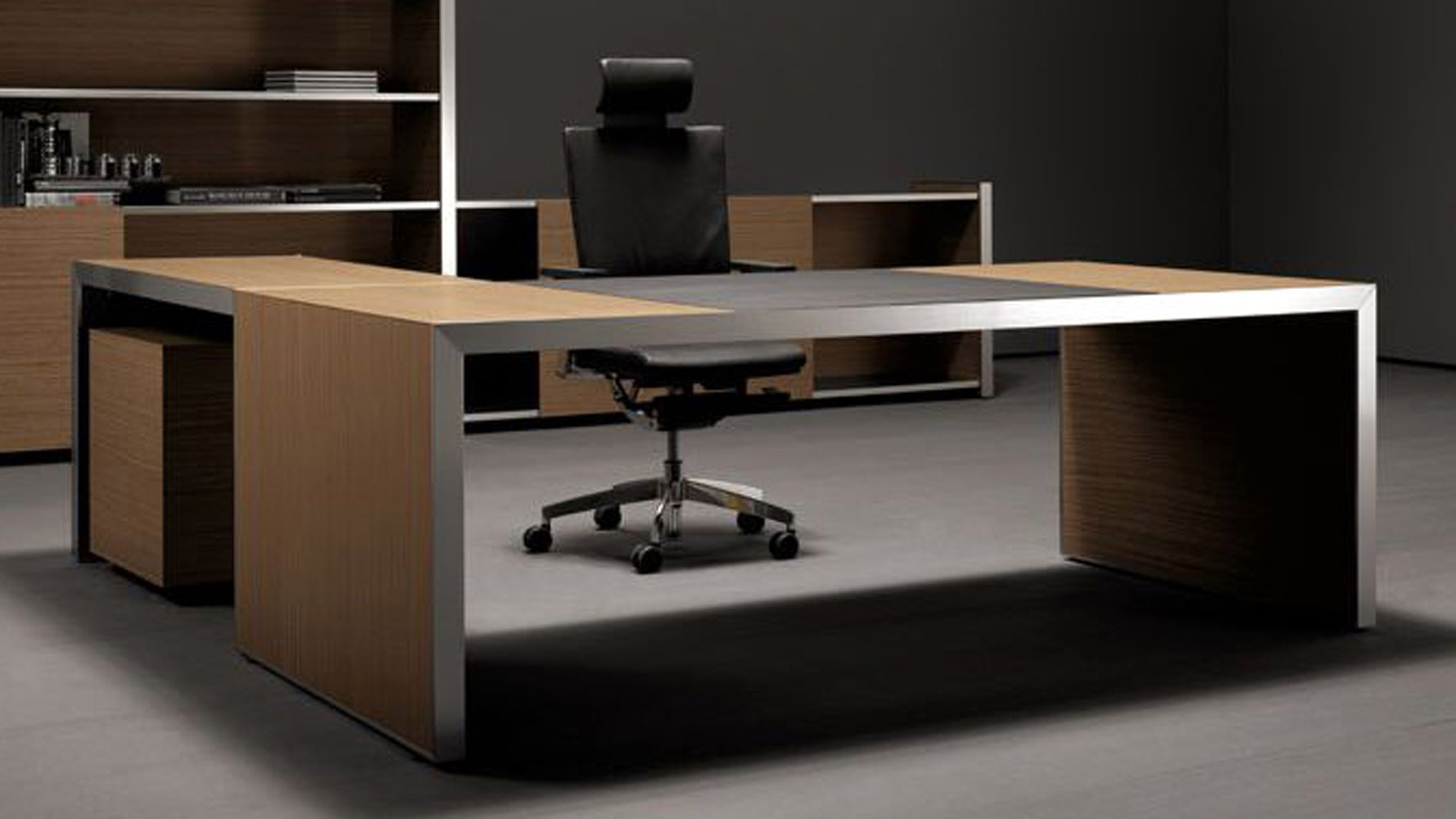 Modern Oikos L Shaped Desk With Panel Leg   Encino Hudson | Zuri Furniture