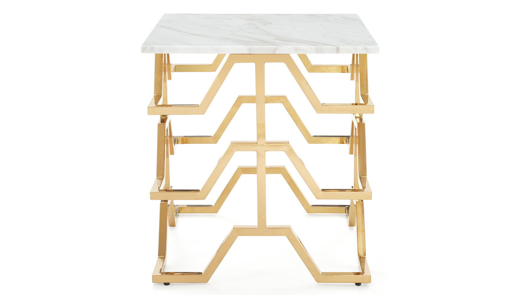 Leavenworth Marble Top Rose Gold Side Table View Full Size