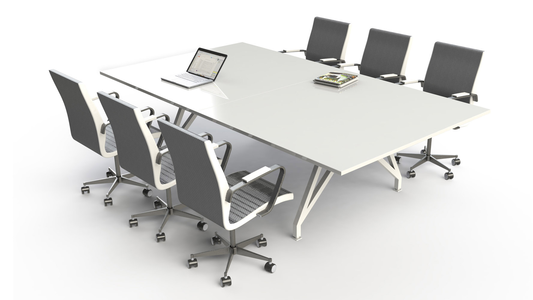 SCALE EYHOV Sport Conference Table Zuri Furniture - Large white conference table
