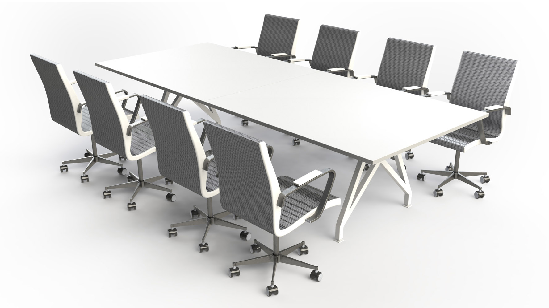 THINK TANK Conference Table Ft Zuri Furniture - 10 foot conference table