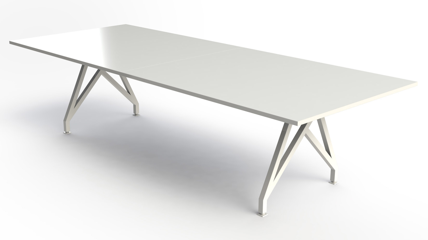 THINK TANK Conference Table Ft Zuri Furniture - Large white conference table