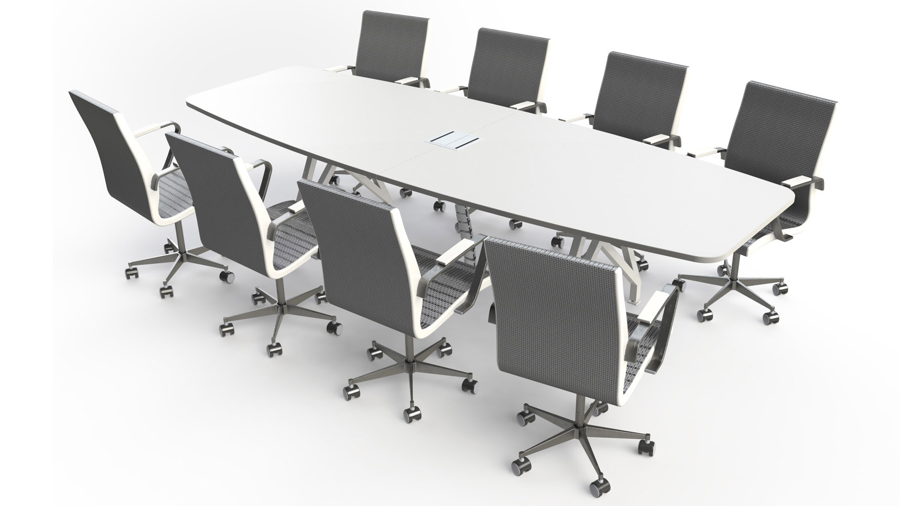 KAYAK Conference Table Zuri Furniture - Black conference room table